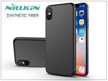 Apple iPhone X hátlap - Nillkin Synthetic Fiber - fekete