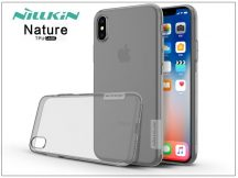 Apple iPhone X szilikon hátlap - Nillkin Nature - szürke