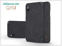 Apple iPhone X oldalra nyíló flipes tok - Nillkin Qin - fekete