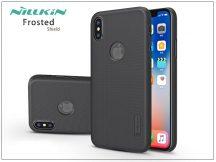 Apple iPhone X hátlap képernyővédő fóliával - Nillkin Frosted Shield Logo - fekete