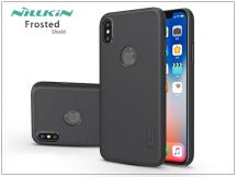 Apple iPhone X hátlap - Nillkin Frosted Shield Logo - fekete