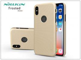 Apple iPhone X hátlap képernyővédő fóliával - Nillkin Frosted Shield Logo - gold
