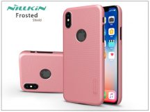 Apple iPhone X hátlap képernyővédő fóliával - Nillkin Frosted Shield Logo - rose gold