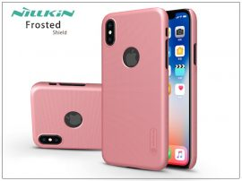 Apple iPhone X hátlap képernyővédő fóliával - Nillkin Frosted Shield Logo - rose gold