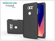 LG V30 H930 hátlap képernyővédő fóliával - Nillkin Frosted Shield - fekete