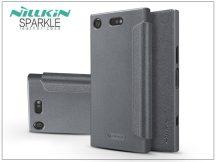 Sony Xperia XZ1 Compact (G8441) oldalra nyíló flipes tok - Nillkin Sparkle - fekete