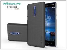 Nokia 8 hátlap képernyővédő fóliával - Nillkin Frosted Shield - fekete