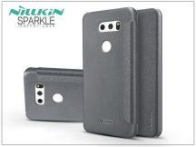 LG V30 H930 oldalra nyíló flipes tok - Nillkin Sparkle - fekete
