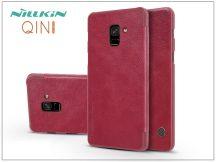 Samsung A730F Galaxy A8 Plus (2018) oldalra nyíló flipes tok - Nillkin Qin - piros