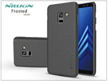 Samsung A730F Galaxy A8 Plus (2018) hátlap képernyővédő fóliával - Nillkin Frosted Shield - fekete