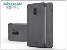 Samsung A530F Galaxy A8 (2018) oldalra nyíló flipes tok - Nillkin Sparkle - fekete