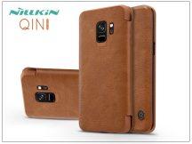 Samsung G960F Galaxy S9 oldalra nyíló flipes tok - Nillkin Qin - barna