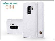 Samsung G965F Galaxy S9 Plus oldalra nyíló flipes tok - Nillkin Qin - fehér