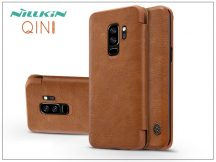 Samsung G965F Galaxy S9 Plus oldalra nyíló flipes tok - Nillkin Qin - barna