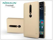 Nokia 6 (2018) hátlap képernyővédő fóliával - Nillkin Frosted Shield - gold