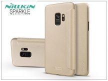 Samsung G960F Galaxy S9 oldalra nyíló flipes tok - Nillkin Sparkle - gold