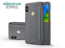 Xiaomi Redmi Note 5/Note 5 Pro oldalra nyíló flipes tok - Nillkin Sparkle - fekete