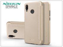 Huawei P20 Lite oldalra nyíló flipes tok - Nillkin Sparkle - gold