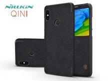 Xiaomi Redmi Note 5/Note 5 Pro oldalra nyíló flipes tok - Nillkin Qin - fekete
