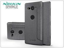 Sony Xperia XZ2 Compact (H8314/H8324) oldalra nyíló flipes tok - Nillkin Sparkle - fekete