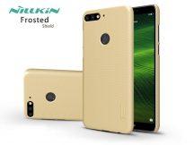 Huawei Y7 (2018)/Huawei Y7 Prime (2018)/Honor 7C hátlap képernyővédő fóliával - Nillkin Frosted Shield - gold