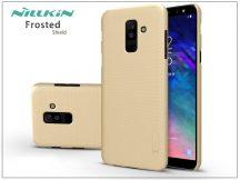 Samsung A605 Galaxy A6 Plus (2018) hátlap képernyővédő fóliával - Nillkin Frosted Shield - gold