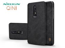 OnePlus 6 (A6000) oldalra nyíló flipes tok - Nillkin Qin - fekete