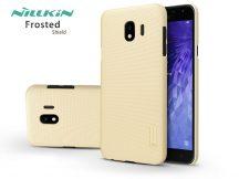 Samsung J400F Galaxy J4 (2018) hátlap képernyővédő fóliával - Nillkin Frosted Shield - gold