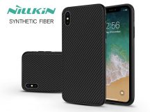 Apple iPhone XS Max hátlap - Nillkin Synthetic Fiber - fekete