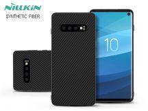 Samsung G973U Galaxy S10 hátlap - Nillkin Synthetic Fiber - fekete