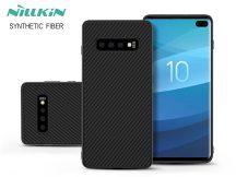 Samsung G975U Galaxy S10+ hátlap - Nillkin Synthetic Fiber - fekete