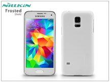 Samsung SM-G800 Galaxy S5 Mini hátlap képernyővédő fóliával - Nillkin Frosted Shield - fehér