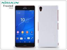 Sony Xperia Z3 (D6603) hátlap képernyővédő fóliával - Nillkin Frosted Shield - fehér
