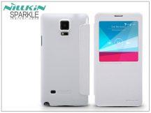 Samsung SM-N910 Galaxy Note 4 oldalra nyíló flipes tok - Nillkin Sparkle - fehér