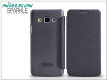Samsung SM-A300F Galaxy A3 oldalra nyíló flipes tok - Nillkin Sparkle - fekete