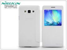 Samsung SM-A700F Galaxy A7 oldalra nyíló flipes tok - Nillkin Sparkle - fehér