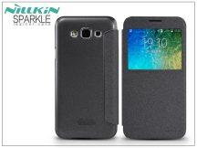 Samsung SM-E500F Galaxy E5 oldalra nyíló flipes tok - Nillkin Sparkle - fekete
