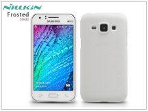 Samsung SM-J100 Galaxy J1 hátlap képernyővédő fóliával - Nillkin Frosted Shield - fehér