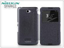 Sony Xperia E4 (E2104/E2105) oldalra nyíló flipes tok - Nillkin Sparkle - fekete