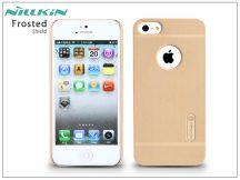 Apple iPhone 5/5S/SE hátlap képernyővédő fóliával - Nillkin Frosted Shield - golden