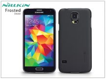 Samsung SM-G900 Galaxy S5 hátlap képernyővédő fóliával - Nillkin Frosted Shield - fekete