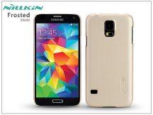 Samsung SM-G900 Galaxy S5 hátlap képernyővédő fóliával - Nillkin Frosted Shield - golden
