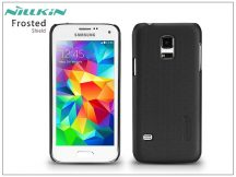Samsung SM-G800 Galaxy S5 Mini hátlap képernyővédő fóliával - Nillkin Frosted Shield - fekete