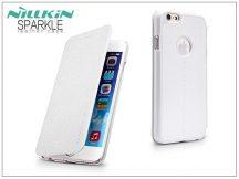 Apple iPhone 6/6S oldalra nyíló flipes tok - Nillkin Sparkle - fehér
