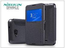 Sony Xperia E4G (E2003) oldalra nyíló flipes tok - Nillkin Sparkle - fekete