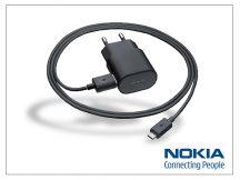 Nokia gyári micro USB hálózati töltő 120 cm-es vezetékkel - 5V/1,3A - AC-50E - black (ECO csomagolás)