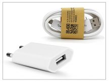 Univerzális USB hálózati töltő adapter + micro USB adatkábel - 5V/1A - white