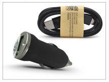 Univerzális USB szivargyújtó töltő adapter + micro USB adatkábel - 5V/1A - fekete