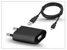Univerzális USB hálózati töltő adapter + micro USB töltőkábel - 5V/1A - black