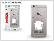 Apple iPhone 7 Plus szilikon hátlap - BCN Caseland Love - transparent